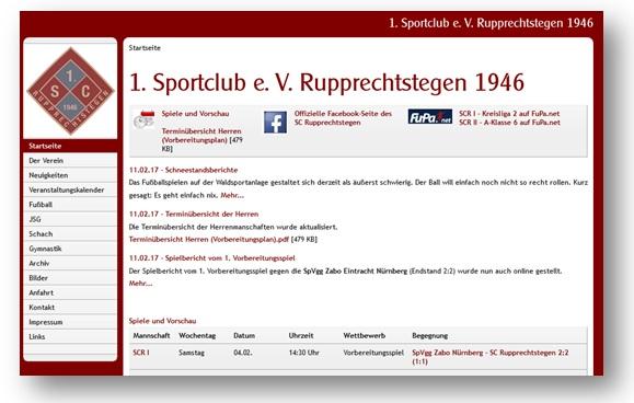 10 Jahre SCR Homepage