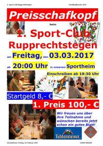 Preisschafkopf am 03.03.2017 im Sportheim